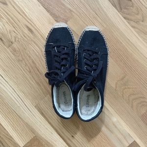 Soludos Black Espadrille Sneakers